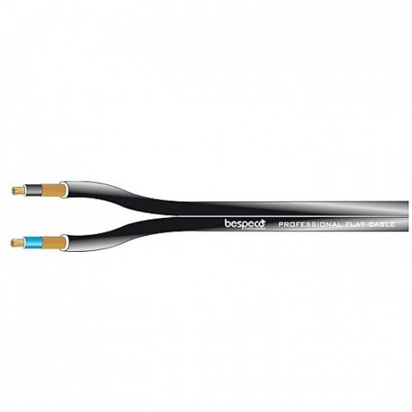 Flat coaxial cable diam. 2.8 x 5.6 Shielded Cabling and audio signal to the meter
