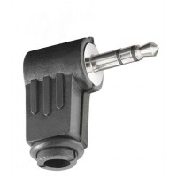Spina JACK Stereo 3,5 mm ad Angolo 90° corpo in PVC - JC-023
