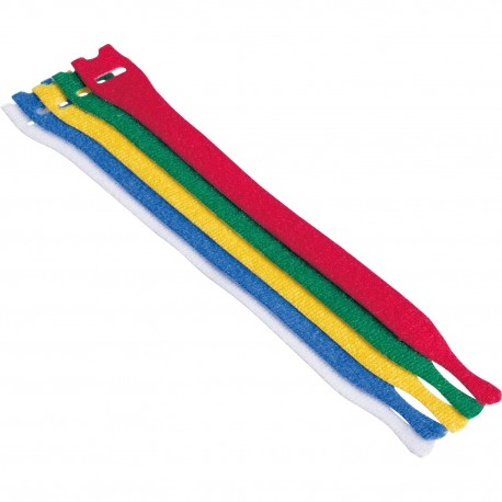 Velcro cable ties Cable tie Colourful, Dimensions 20 x 180 mm, set of 5 pcs