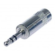 Spina JACK Stereo 3,5 mm contatti cromati foro 4mm - by Neutrik REAN - NYS231