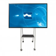 "Delta, supporto monitor da terra, fino a 75"" per lavagne touch screen, Euromet"