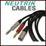 Audio cables with NEUTRIK